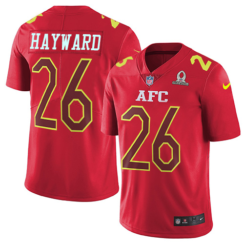 Nike Chargers #26 Casey Hayward Red Youth Stitched NFL Limited AFC 2017 Pro Bowl Jersey