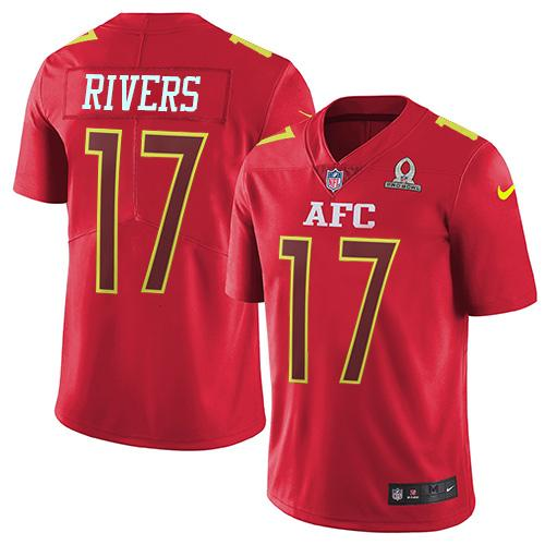 Nike Chargers #17 Philip Rivers Red Youth Stitched NFL Limited AFC 2017 Pro Bowl Jersey