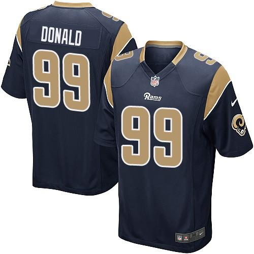 Nike Rams #99 Aaron Donald Navy Blue Team Color Youth Stitched NFL Elite Jersey