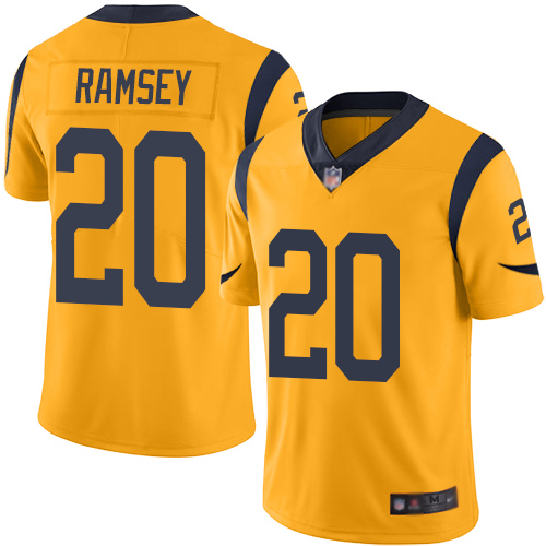 Nike Rams #20 Jalen Ramsey Gold Youth Stitched NFL Limited Rush Jersey