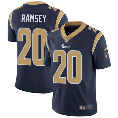 Nike Rams #20 Jalen Ramsey Navy Blue Team Color Youth Stitched NFL Vapor Untouchable Limited Jersey