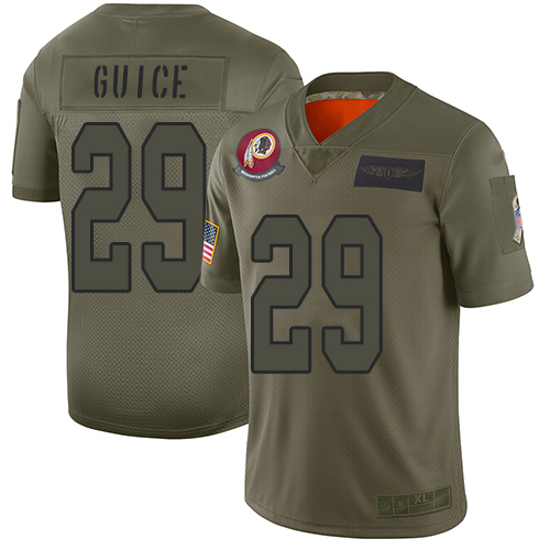 Nike Redskins #29 Derrius Guice Camo Youth Stitched NFL Limited 2019 Salute to Service Jersey