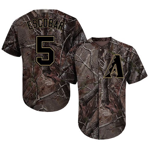 Diamondbacks #5 Eduardo Escobar Camo Realtree Collection Cool Base Stitched Youth MLB Jersey