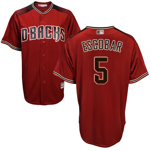 Diamondbacks #5 Eduardo Escobar Sedona Red Alternate Stitched Youth MLB Jersey