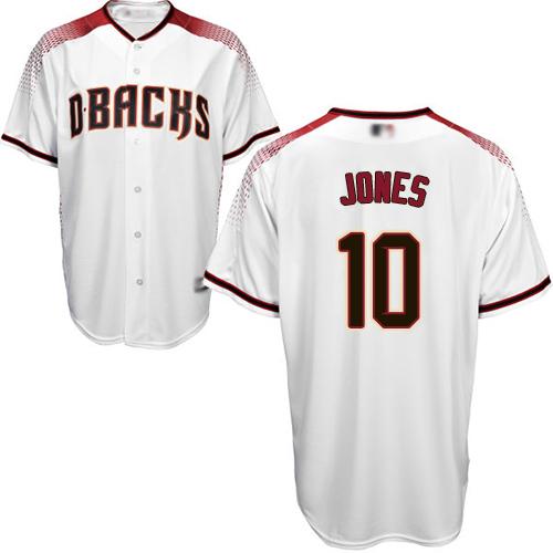 Diamondbacks #10 Adam Jones White/Crimson Home Stitched Youth MLB Jersey