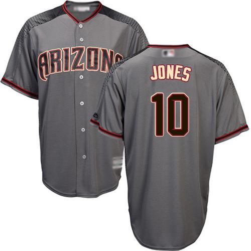 Diamondbacks #10 Adam Jones Gray Road Stitched Youth MLB Jersey