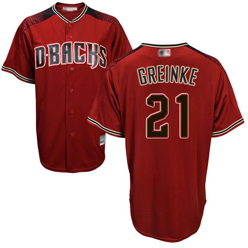 Diamondbacks #21 Zack Greinke Sedona Red Alternate Stitched Youth MLB Jersey