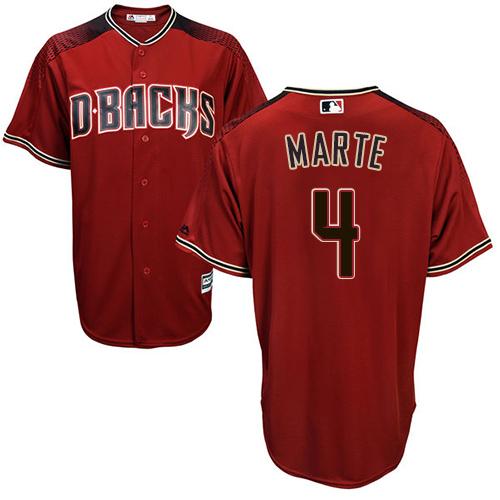 Diamondbacks #4 Ketel Marte Sedona Red Alternate Stitched Youth MLB Jersey