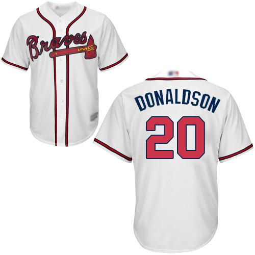 Braves #20 Josh Donaldson White Cool Base Stitched Youth MLB Jersey
