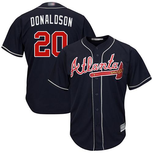 Braves #20 Josh Donaldson Navy Blue Cool Base Stitched Youth MLB Jersey