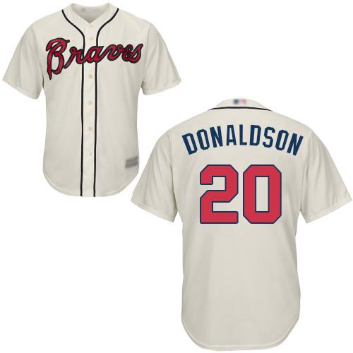 Braves #20 Josh Donaldson Cream Cool Base Stitched Youth MLB Jersey