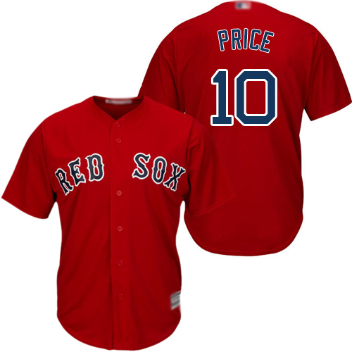 Red Sox #10 David Price Red Cool Base Stitched Youth MLB Jersey