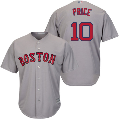 Red Sox #10 David Price Grey Cool Base Stitched Youth MLB Jersey