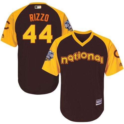 Cubs #44 Anthony Rizzo Brown 2016 All-Star National League Stitched Youth MLB Jersey