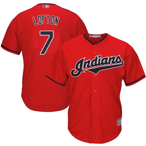 Indians #7 Kenny Lofton Red Stitched Youth MLB Jersey