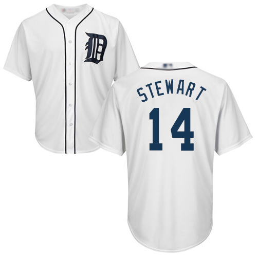 Tigers #14 Christin Stewart White Cool Base Stitched Youth MLB Jersey