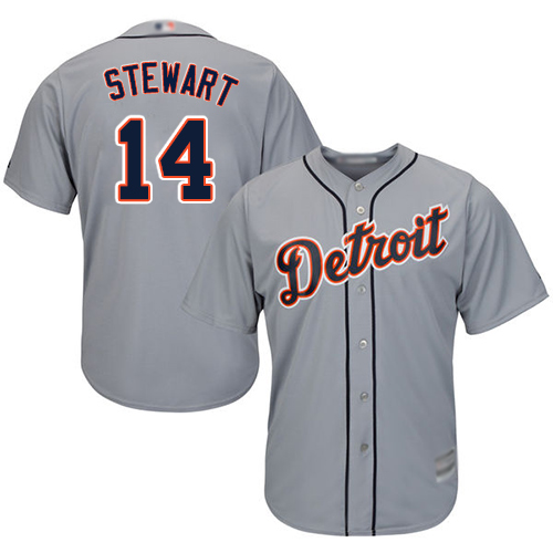 Tigers #14 Christin Stewart Grey Cool Base Stitched Youth MLB Jersey