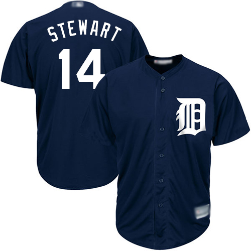 Tigers #14 Christin Stewart Navy Blue Cool Base Stitched Youth MLB Jersey