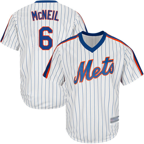 Mets #6 Jeff McNeil White(Blue Strip) Alternate Cool Base Stitched Youth MLB Jersey