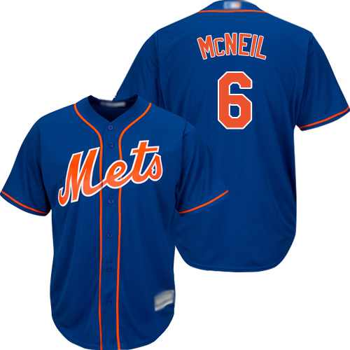 Mets #6 Jeff McNeil Blue Cool Base Stitched Youth MLB Jersey