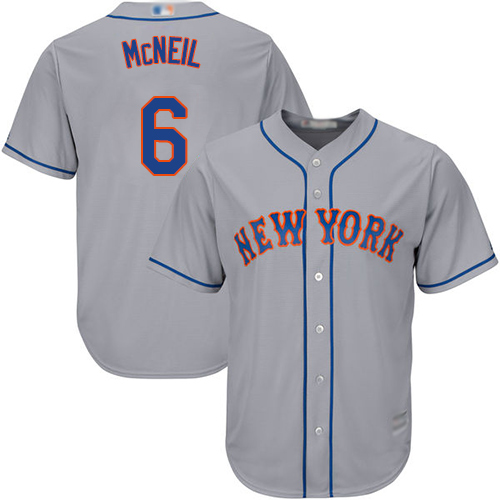 Mets #6 Jeff McNeil Grey Cool Base Stitched Youth MLB Jersey