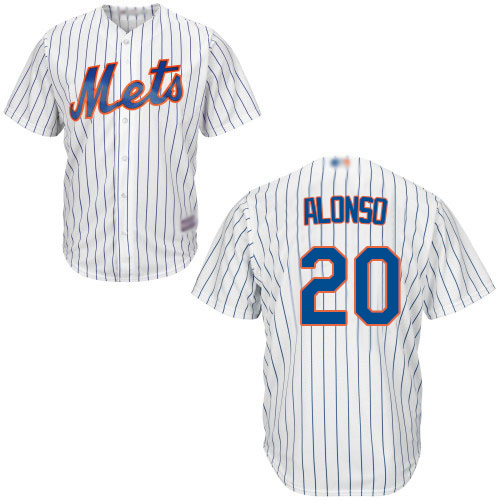 Mets #20 Pete Alonso White(Blue Strip) Cool Base Stitched Youth MLB Jersey