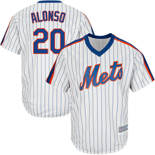 Mets #20 Pete Alonso White(Blue Strip) Alternate Cool Base Stitched Youth MLB Jersey