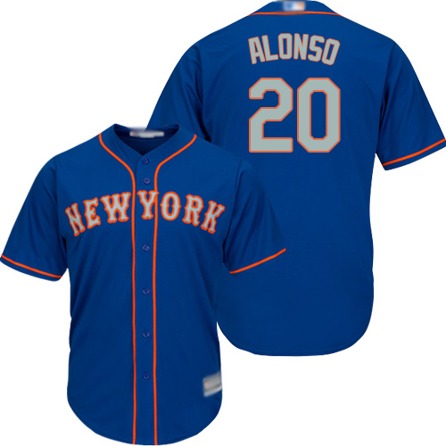 Mets #20 Pete Alonso Blue(Grey NO.) Cool Base Stitched Youth MLB Jersey