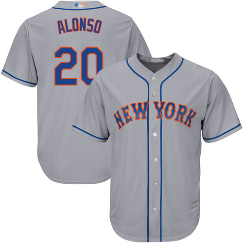Mets #20 Pete Alonso Grey Cool Base Stitched Youth MLB Jersey