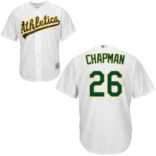 Athletics #26 Matt Chapman White Cool Base Stitched Youth MLB Jersey