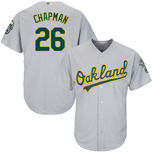 Athletics #26 Matt Chapman Grey Cool Base Stitched Youth MLB Jersey