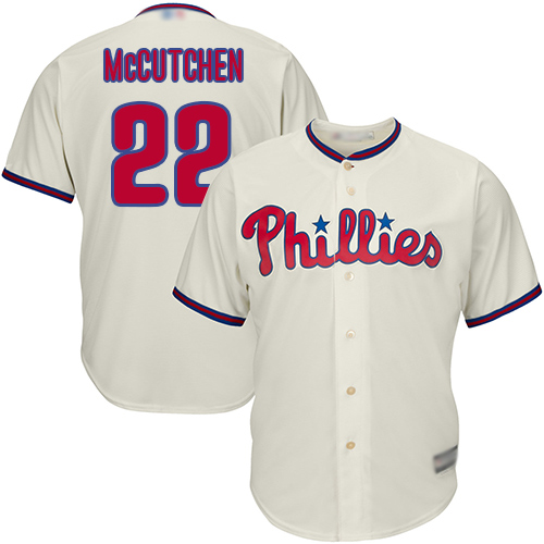 Phillies #22 Andrew McCutchen Cream Cool Base Stitched Youth MLB Jersey