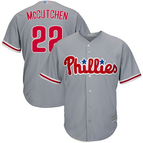 Phillies #22 Andrew McCutchen Grey Cool Base Stitched Youth MLB Jersey