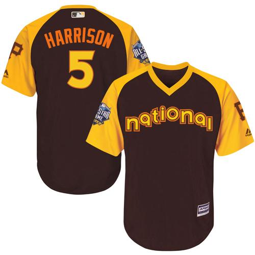 Pirates #5 Josh Harrison Brown 2016 All-Star National League Stitched Youth MLB Jersey