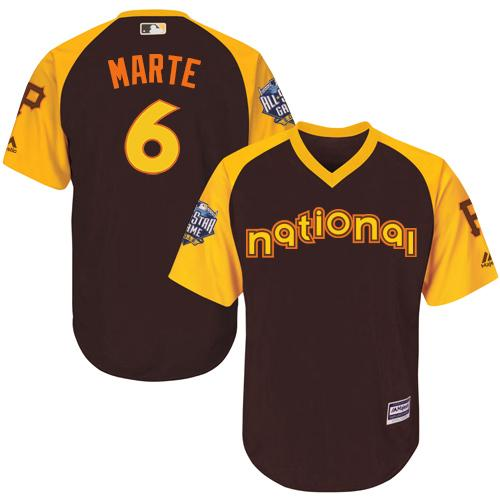 Pirates #6 Starling Marte Brown 2016 All-Star National League Stitched Youth MLB Jersey