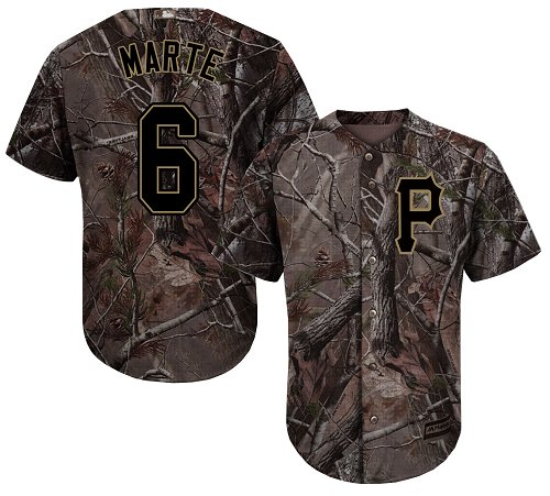 Pirates #6 Starling Marte Camo Realtree Collection Cool Base Stitched Youth MLB Jersey