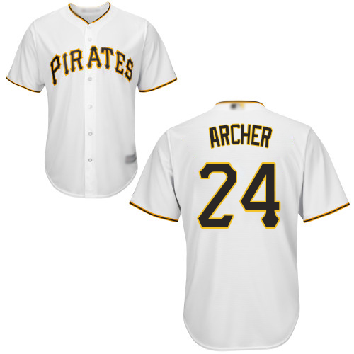 Pirates #24 Chris Archer White Cool Base Stitched Youth MLB Jersey
