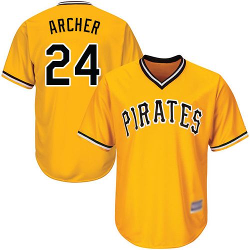 Pirates #24 Chris Archer Gold Cool Base Stitched Youth MLB Jersey