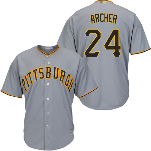Pirates #24 Chris Archer Grey Cool Base Stitched Youth MLB Jersey
