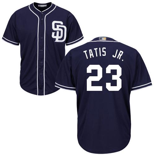 Padres #23 Fernando Tatis Jr. Navy blue Cool Base Stitched Youth MLB Jersey
