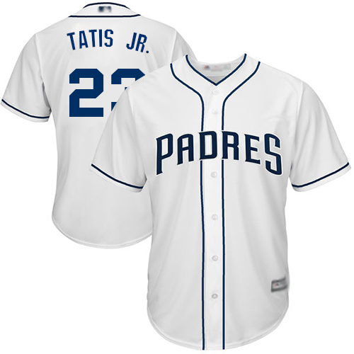 Padres #23 Fernando Tatis Jr. White Cool Base Stitched Youth MLB Jersey