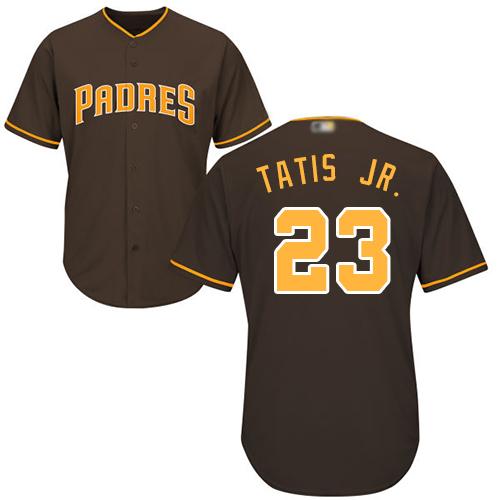 Padres #23 Fernando Tatis Jr. Brown Cool Base Stitched Youth MLB Jersey