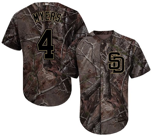 Padres #4 Wil Myers Camo Realtree Collection Cool Base Stitched Youth MLB Jersey