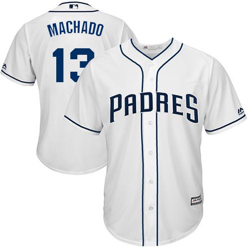 Padres #13 Manny Machado White Cool Base Stitched Youth MLB Jersey
