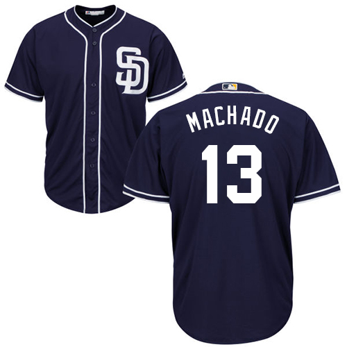 Padres #13 Manny Machado Navy blue Cool Base Stitched Youth MLB Jersey