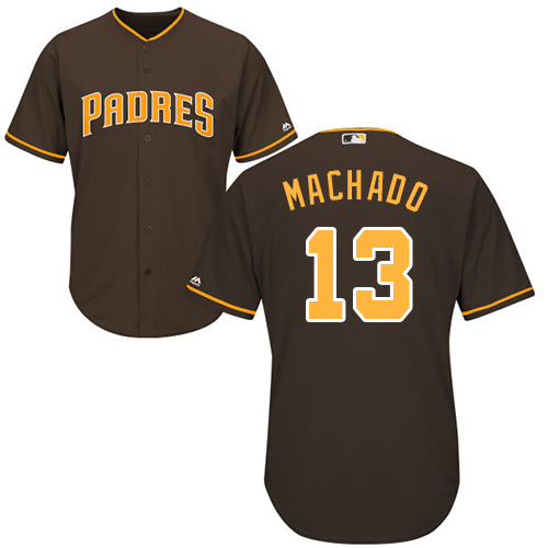 Padres #13 Manny Machado Brown Cool Base Stitched Youth MLB Jersey