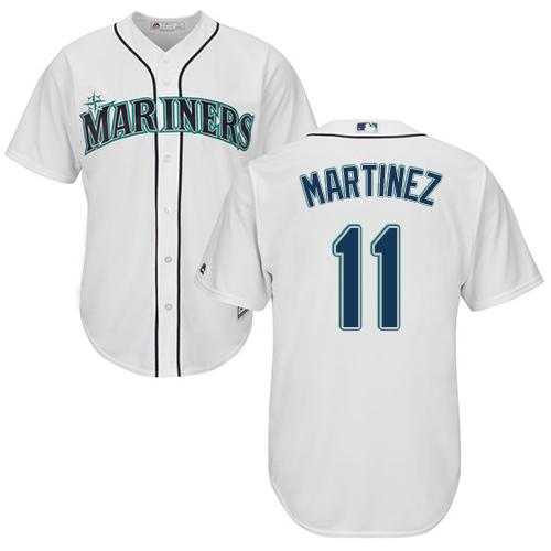 Mariners #11 Edgar Martinez White Cool Base Stitched Youth MLB Jersey