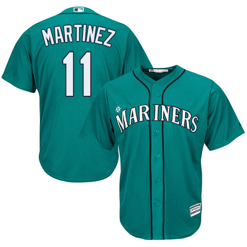 Mariners #11 Edgar Martinez Green Cool Base Stitched Youth MLB Jersey