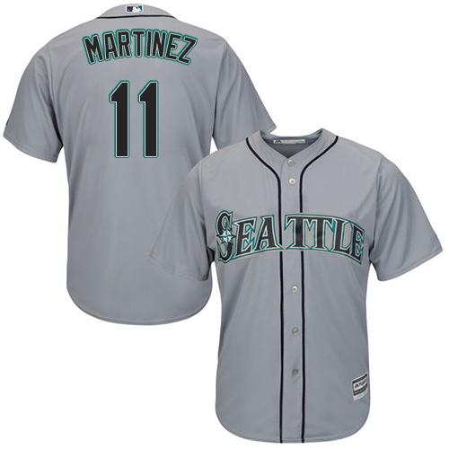 Mariners #11 Edgar Martinez Grey Cool Base Stitched Youth MLB Jersey