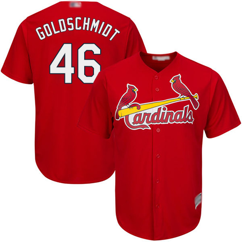 Cardinals #46 Paul Goldschmidt Red Cool Base Stitched Youth MLB Jersey